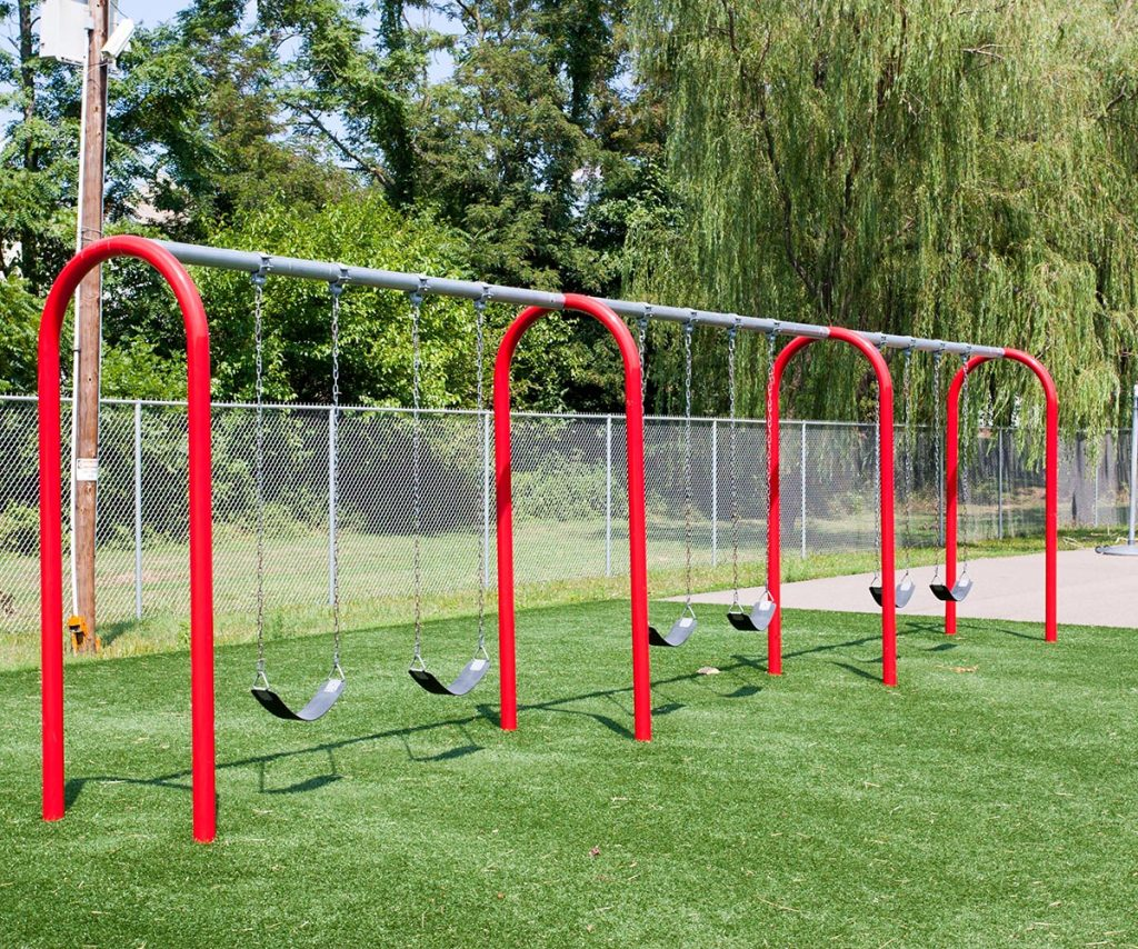 3 Bay 8ft Arch Swing | Slash Proof Belt Seats |.Henderson Recreation