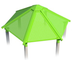 HEX ROOF lime for playground | Henderson Recreation