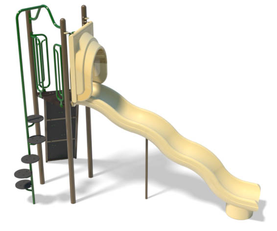 freestanding wave slide and climber