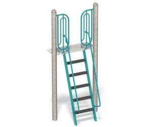 Senior Stepladder For Playground | Non Skid Plastic Steps