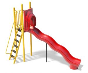 6ft Freestanding Wave Slide for Playground | Henderson Playground