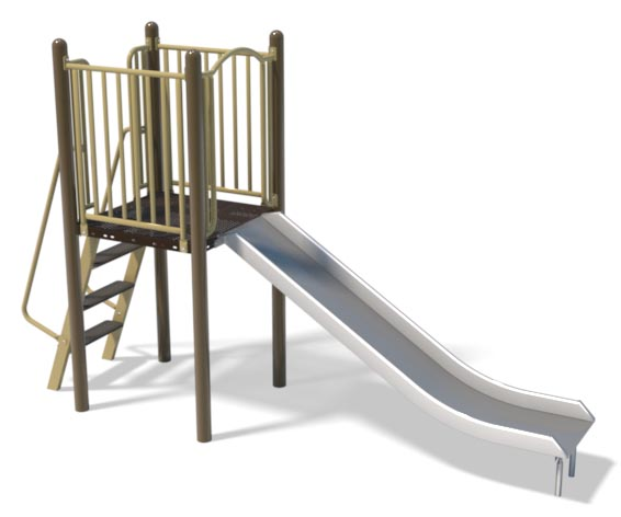 4ft Stainless Slide and Ladder | Henderson Recreation