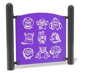 Little Monsters Panel | PlaySteel MAX | Henderson Recreation
