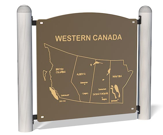 Western Canada Map Panel | Playground Fun & Education