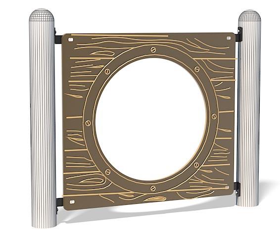 Woodgrain Porthole Panel For Playground | Ground Level Fun