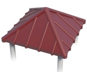 Pyramid Roof for Playground   Roto Molded Plastic Roof