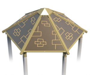 Plastic Hex Roof for Playground | Roto Molded Plastic Roof