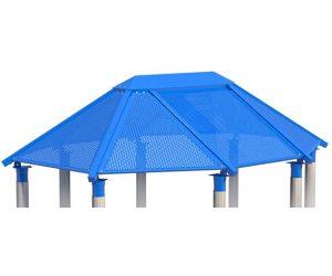 Steel Octagon Roof for Playground   Playground Fun for Children