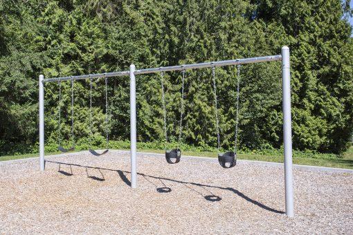 2 Bay 8ft Single Post Swing   Henderson Recreation