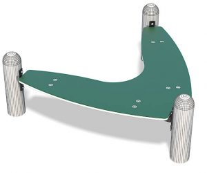Bommerang Bench for Your Playground   Henderson Recreation