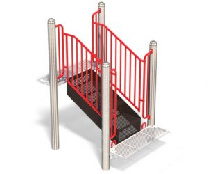 Accessible Stepup For Playground | Special Needs Access Point For Children
