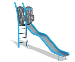 Freestanding 5ft Wavy Stainless Steel Slide | Henderson Rereation