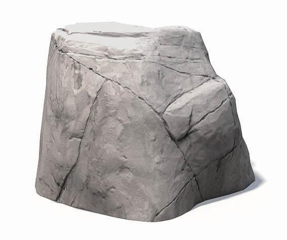 nature inspired concrete boulder